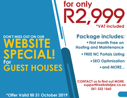 Website Special for Guest Houses | Port Nolloth Accommodation, Business & Tourism Portal